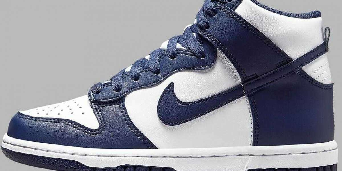 Brand New Nike Dunk High Is Releasing With Navy And White